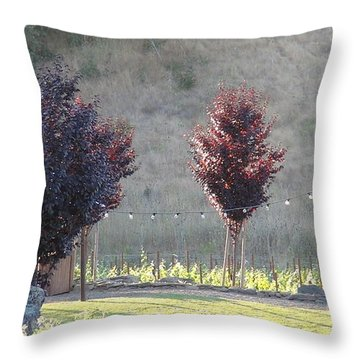 Red Tree's Throw Pillow by Shawn Marlow