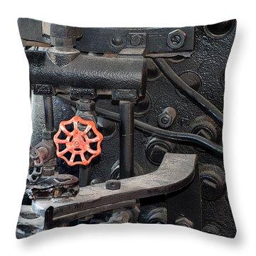 Red Valve S P R R 1673 Throw Pillow by Joe Kozlowski