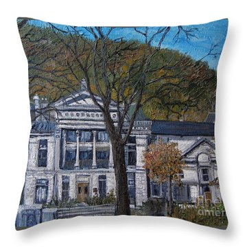 Redpath Museum Throw Pillow by Reb Frost