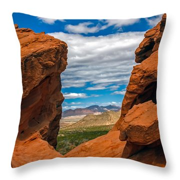 Redstone Throw Pillow by Robert Bales