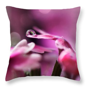 Reflecting On Pink Throw Pillow by Lisa Knechtel