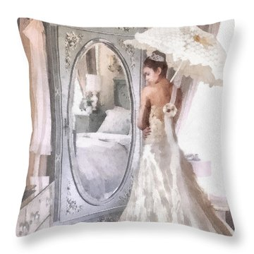 Reflection Throw Pillow by Mo T