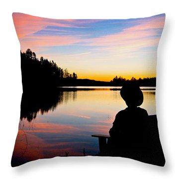 Reflection Reflection Throw Pillow by John Haldane