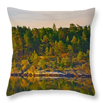Reflections 2 Sweden Throw Pillow by Marianne Campolongo