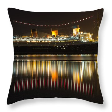 Reflections Of Queen Mary Throw Pillow by Heidi Smith
