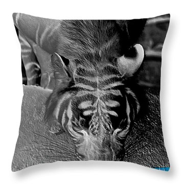 Reflections Of The Wild Negative Throw Pillow by DigiArt Diaries by Vicky B Fuller