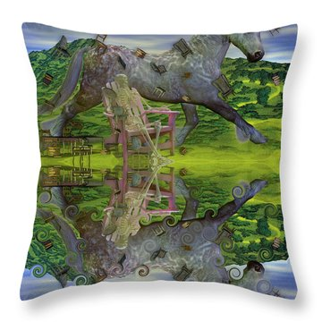 Reflective Oz Throw Pillow by Betsy Knapp