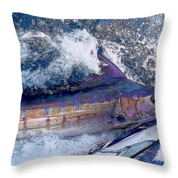 Release Throw Pillow by Carey Chen