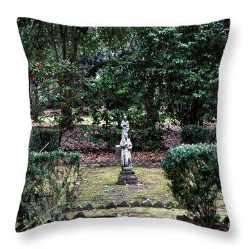 Religion In The Garden Throw Pillow by John Rizzuto