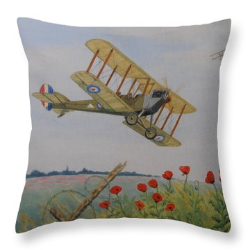 Remembrance Throw Pillow by Elaine Jones