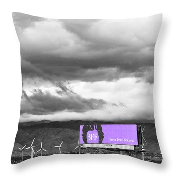 Remembrance Palm Springs First Lady Betty Ford Throw Pillow by William Dey