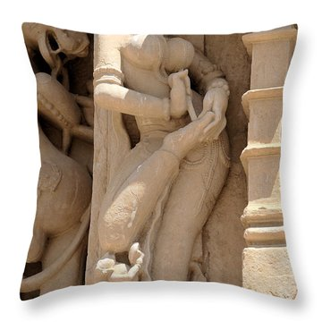 Removing A Thorn Throw Pillow by C H Apperson