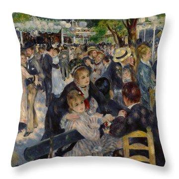 Renoir Moulin De Galette Throw Pillow by Granger