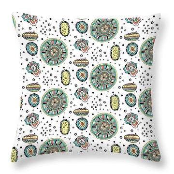 Repeat Print - Floral Party Throw Pillow by Susan Claire
