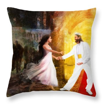 Rescued From Darkness Throw Pillow by Francesa Miller