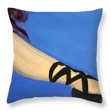 Resting Ballerina Throw Pillow by Jolanta Anna Karolska