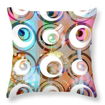 Retro Art 2 Throw Pillow by Artwork Studio