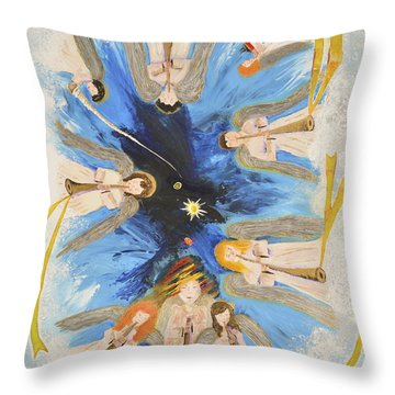 Revelation 8-11 Throw Pillow by Cassie Sears