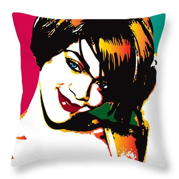 Rhiana  Throw Pillow by Irina Effa