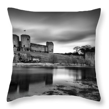 Rhuddlan Castle Throw Pillow by Dave Bowman