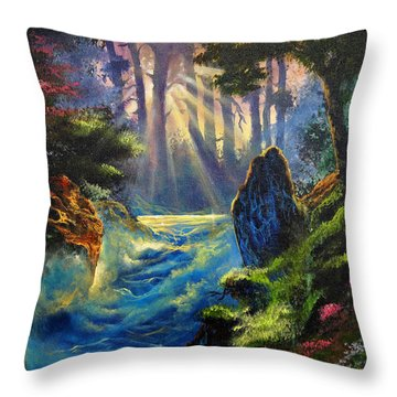 Rhythms Of A Vision Throw Pillow by Marco Antonio Aguilar