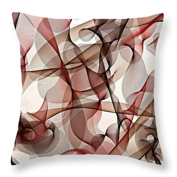Ribbons Of Life Throw Pillow by Marian Palucci-Lonzetta