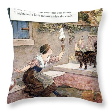 Richardson: Pussy Cat Throw Pillow by Granger