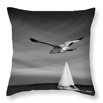 Ride The Wind Throw Pillow by Laura Fasulo