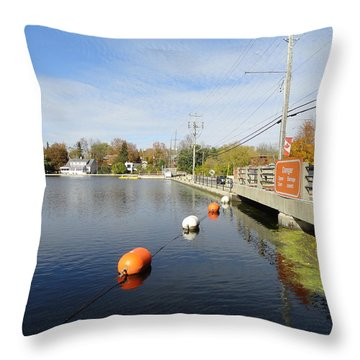 Rideau Canal Throw Pillow by Betty-Anne McDonald