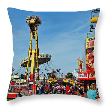Rides Rides Rides Throw Pillow by Skip Willits