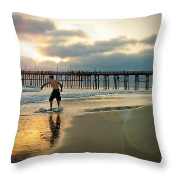 Riding Off Into The Sunset Throw Pillow by Ann Patterson
