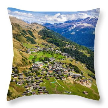 Riederalp Valais Swiss Alps Switzerland Europe Throw Pillow by Matthias Hauser