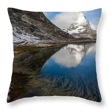 Riffelsee Throw Pillow by Konstantin Dikovsky