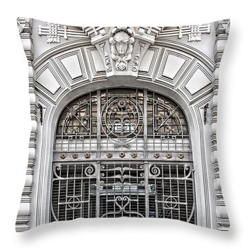 Riga Art Nouveau District 03 Throw Pillow by Antony McAulay