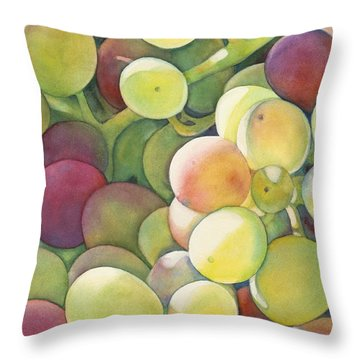 Ripening Throw Pillow by Sandy Haight