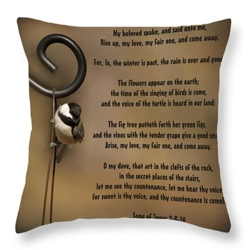 Rise Up My Love My Fair One Throw Pillow by Kathy Clark