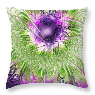Ritual Throw Pillow by Anastasiya Malakhova