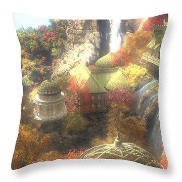 Rivendell Throw Pillow by Cynthia Decker