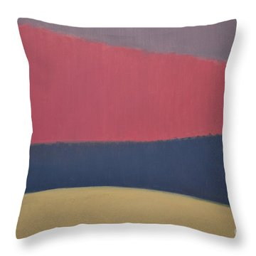 River Throw Pillow by Karen Francis