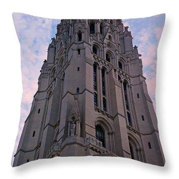 Riverside Church Throw Pillow by Stephen Stookey