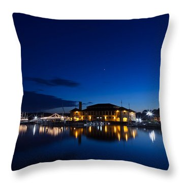 Riviera Blue Throw Pillow by Steve Gadomski