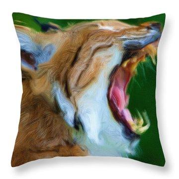 Roaring Twenties Throw Pillow by Ayse Deniz