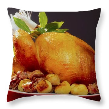 Roast Turkey Throw Pillow by The Irish Image Collection
