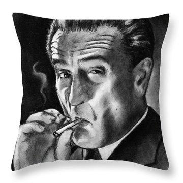 Robert De Niro Throw Pillow by Salman Ravish