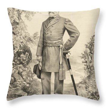 Robert E Lee Throw Pillow by Digital Reproductions