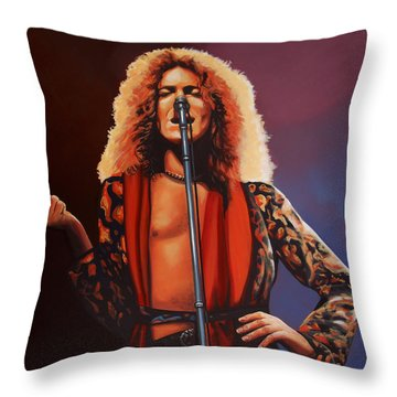 Robert Plant Of Led Zeppelin Throw Pillow by Paul Meijering