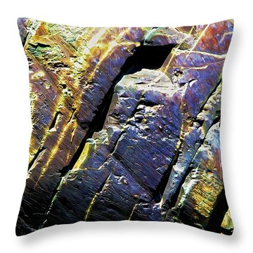 Rock Art 9 Throw Pillow by Bill Caldwell -        ABeautifulSky Photography