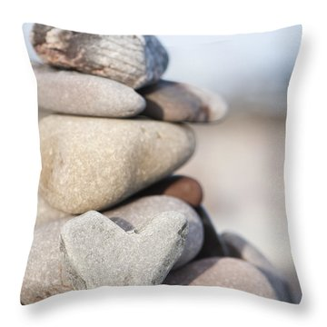 Rock Solid Love Throw Pillow by Anne Gilbert