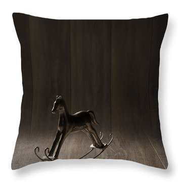 Rocking Horse Throw Pillow by Amanda Elwell