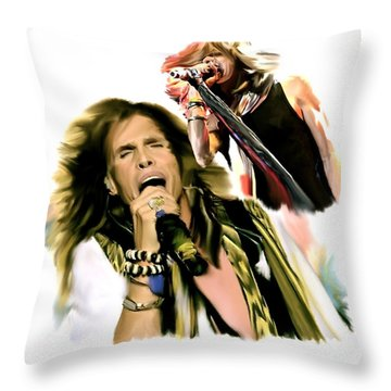 Rocks Gothic Lion II  Steven Tyler Throw Pillow by Iconic Images Art Gallery David Pucciarelli
